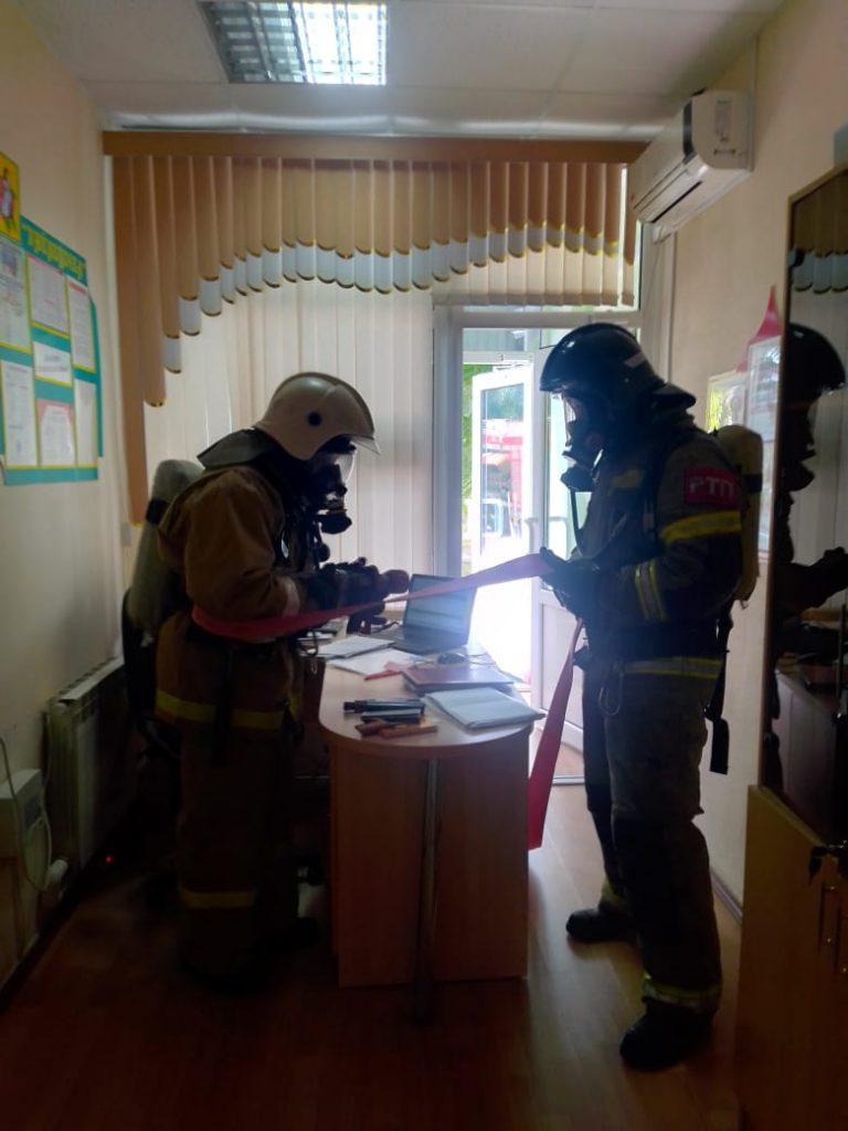 Тренировочная пожарная эвакуация